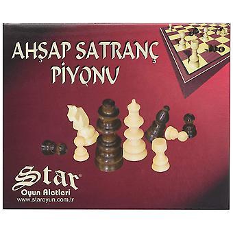 Staroyun1050224 11 x 13,5 x 4 cm Holz Schachmann Nr. 1 Schachset Spielzeug