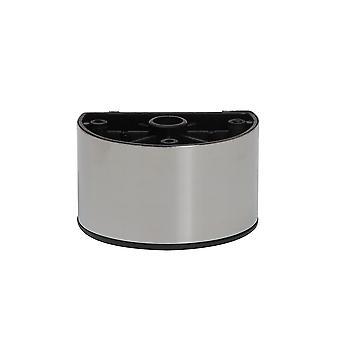 Plástico Medio redondo muebles pierna acero inoxidable 5 cm