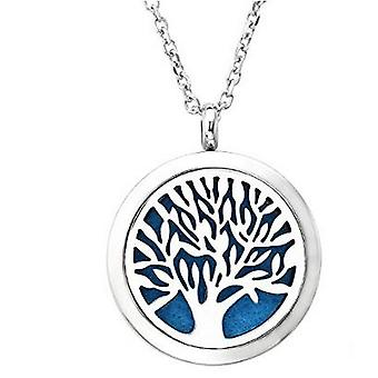 Vincenza aromatherapy essential oil diffuser necklace, stainless steel locket pendant