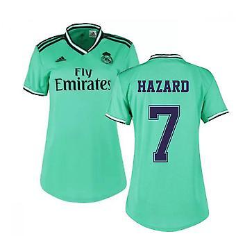 2019-2020 ريال مدريد أديداس للسيدات القميص الثالث (هازارد 7)
