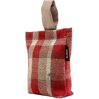 Mcalister Textilien Erbe Tartan rot + weiß Stoff Türstopp