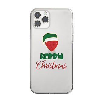 Berry Christmas Cool CLEAR Phone Case Holiday Gift