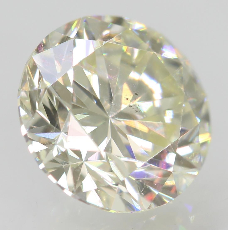 Certified 1.00 Carat I VVS2 Round Brilliant Enhanced Natural Loose Diamond 6.39m