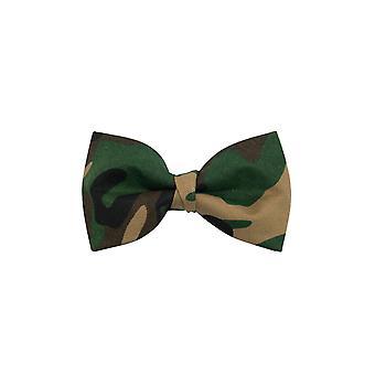 Dobell Mens Camo Print Bow Tie Pre-Tied
