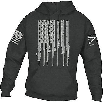 Grunt Style Rifle Flag 2.0 Pullover Hoodie - Dark Heather