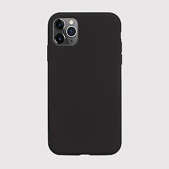 Black liquid silicone iphone 11 pro max case