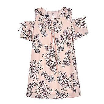 Amy Byer Girls ' mare rece shouldeer o-line dress, fard de obraz împrăștiate, roz, Dimensiune 8