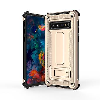 For Samsung Galaxy S10 Case,Gold Ultra-Thin Shockproof PC+TPU Armour Back Cover