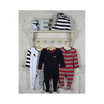 The Essential One Baby Boys Bold Stripe Sleepsuits - 3 Pack