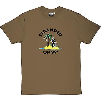 Stranded On 99 Not Out Military Green Men's T-Shirt