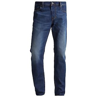 Diesel Larkee-Beex Stretch Washed Blue Regular Tapered Jeans 084YI