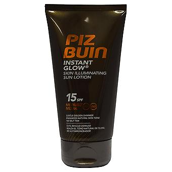 Piz Buin Instant Glow Illuminating Sun Lotion 150ml SPF 15 Subtle Golden Shimmer
