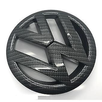 Glans Carbon Fibre zwarte VW Golf MK6 Front en Rear barbecue Boot Badge emblemen