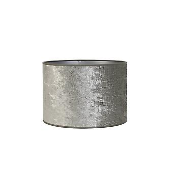 Light & Living Cylinder Shade 35x35x30cm Chelsea Velours Silver