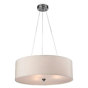 Firstlight Cyclic Modern Cream Drum Shade Suspended Ceiling Light Fitting
