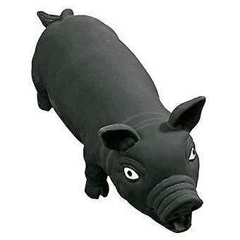 Karlie Flamingo Black Pig Latex 33cm (honden, speelgoed & Sport, In latex)