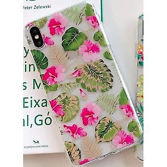 Mobile Schale für iPhoneXR in schönen Blumenmuster rosa & gold