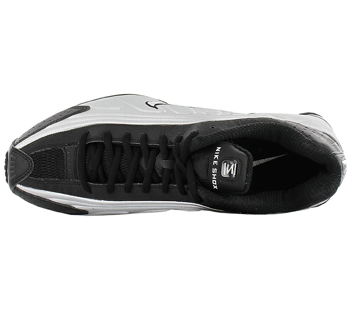 Nike Shox R4 - Chaussures Hommes Black Silver 104265-045 Sneakers Chaussures de sport