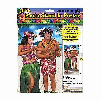 Bristol Novelty Hawaiian Stand In Poster Photo Prop