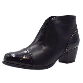 Jana 25490 Bradford Stylish Wide Fit Smart Boot In Black Mix