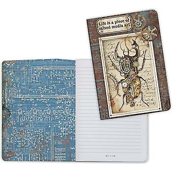 Stamperia Lined Notebook A5-Mechanical Fantasy 2