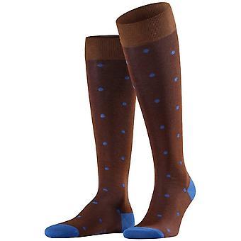 Falke Dot Knee-High Socks - Acacia Brown