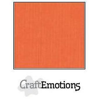 CraftEmotions linnekartong 10 Sh apelsin 30,0x30,0cm / LC-23