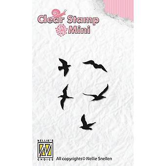 Nellie-apos;s Choice Mini timbres clairs oiseaux MAFS002 27x39mm