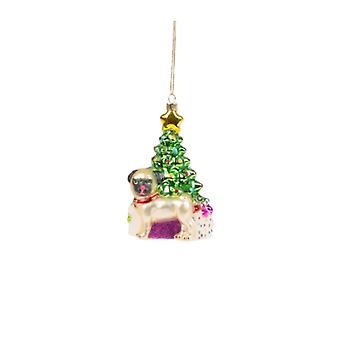 Sass and Belle Novelty Pug Bauble