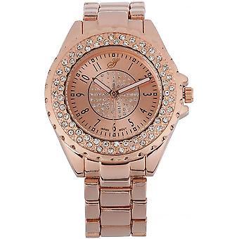Watch Jean Bellecour Big City Dreams YA02674 - Women's Pink Gold Crystal Watch