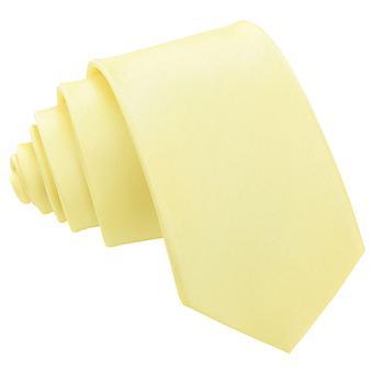 Zitrone gelb Plain Shantung schlanke Krawatte
