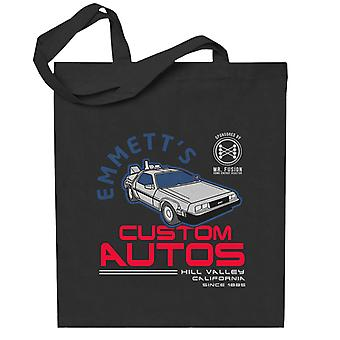 Back To The Future Emmetts Custom Autos Totebag