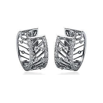 Brincos de diamante Brincos - 18K 750/- Ouro Branco - 0,75 ct. - 2H511W8-1