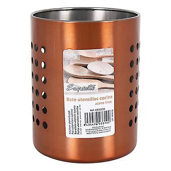 Pot til køkkenredskaber udsøgt rustfrit stål (10 X 13 cm)