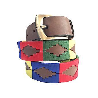 carlos diaz unisex  brown leather  polo belt cdupb158