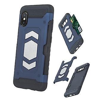 iPhone XR - Defender Kort Veske - Mørk Blå