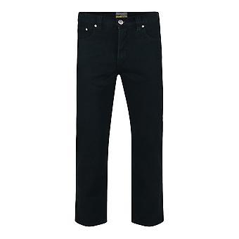 Kam Jeanswear Black Regular Fit Stretch Jeans
