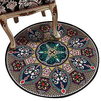 Tapete de Decoração Redonda tapete vintage impresso tapete decorativo