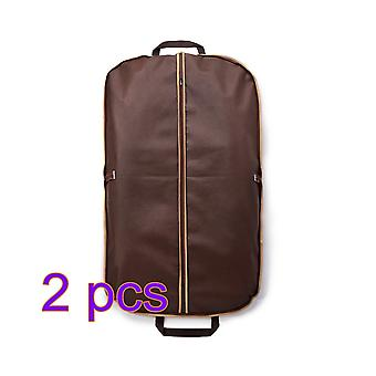 Suit dust bag 2 pieces combination brown