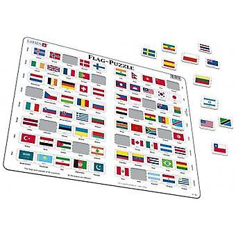 Larsen Jigsaw Puzzle - Flag Puzzle, 80 Piece