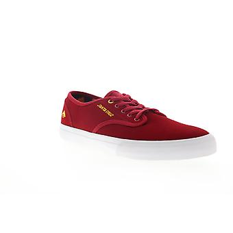 Emerica Wino Standard X Santa Cruz Mens Red Suede Low Top Lace Up Sneakers Shoes
