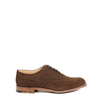 Church's Eeb2649vef0adv Men's Brown Suede Lace-up Shoes