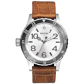 Nixon A467-1888 The 38-20 Ladies-apos; Leather Watch - Brown