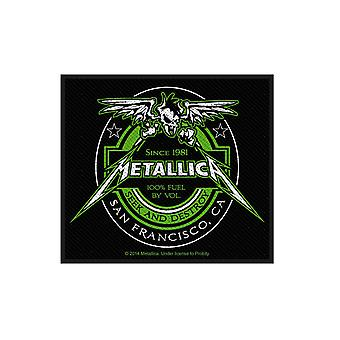 Metallica Patch Seek and Destroy Fuel Label Official Sew On 8cm x 10cm