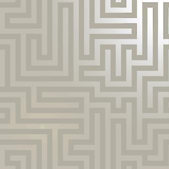 Glistening Maze Wallpaper Taupe Holden 12911
