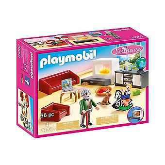playmobil 70207 dollhouse comfortable living room playset 36pcs for ages 4 and