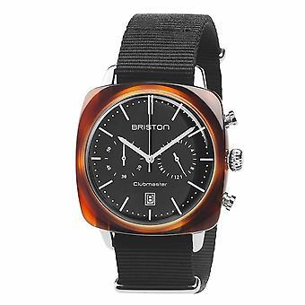 Briston 17140.SA.TV.1.NB Clubmaster Vintage Acetate Wristwatch Black Dial