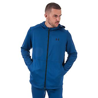 Men's Under Armour UA MK-1 Warm-Up Full Zip Hoody in Blue