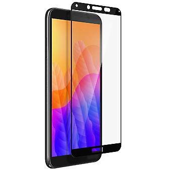 Huawei Y5p Screen protector 9H Tempered Glass - Clear Contour Black