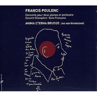 F. Poulenc - Poulenc: Concerto Pour Deux Pianos Et Orchestre; Concert Champ Tre; Suite Fran Aise [CD] USA import